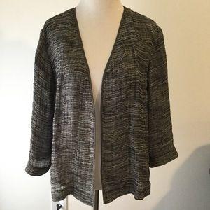 Eileen Fisher Open Front Blazer Jacket gauze Xs